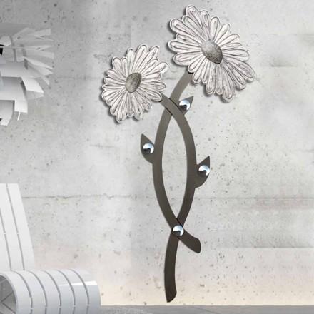 Cârlig de perete decorat manual, din argint Clarke