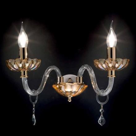 Perete 2 de proiectare lumini clasice în cristal și sticlă fină
