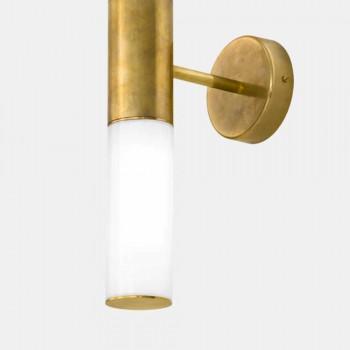 Aplica de perete cu 2 lumini din alamă și sticlă Made in Italy - Etoile de Il Fanale