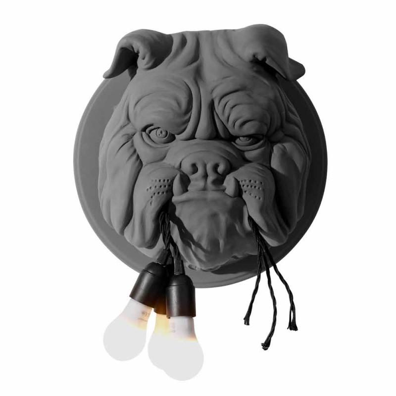Aplica de perete cu 3 lumini în design modern din ceramică gri sau alb - Dogbull