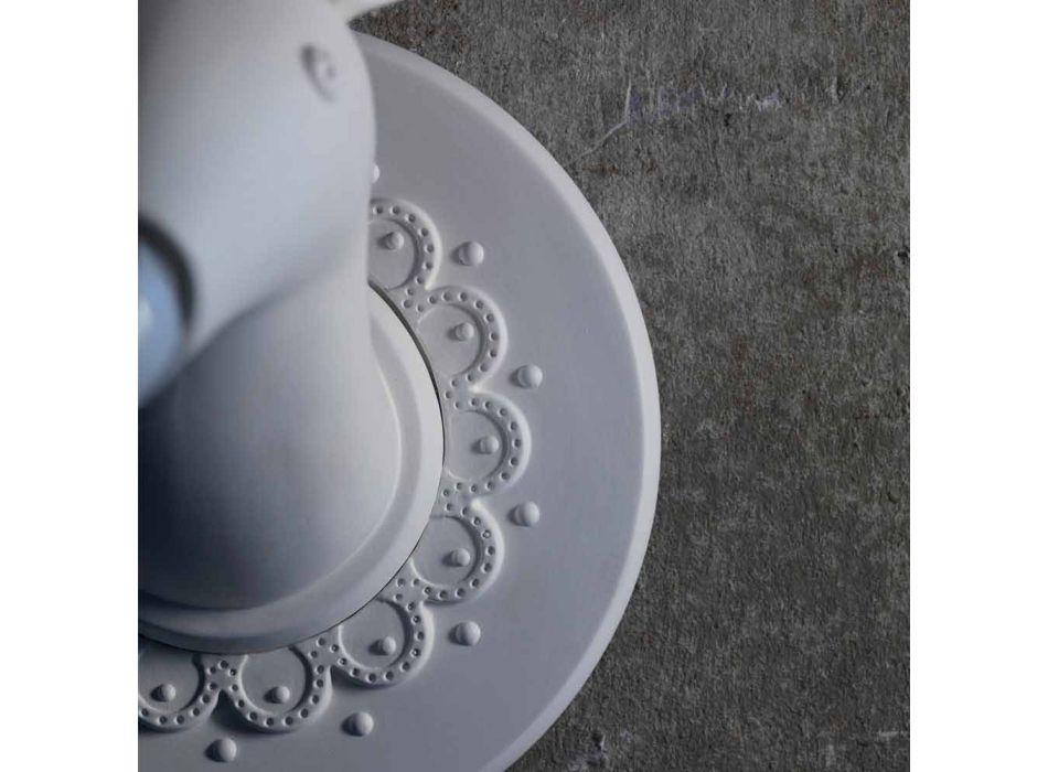 Aplica de perete în ceramică alb mat Design modern în Cervo - Memento
