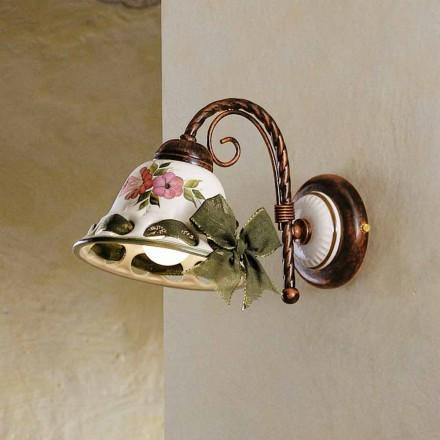 Perete de perete ceramic decorat rustic Ferroluce Napoli