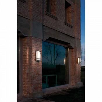 Aplica de perete vintage cu 2 lumini din alamă și plexiglas - Quadro de Il Fanale