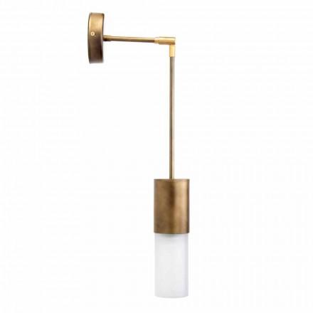 Lampă de perete Artisan din aluminiu și sticlă satinată Made in Italy - Master