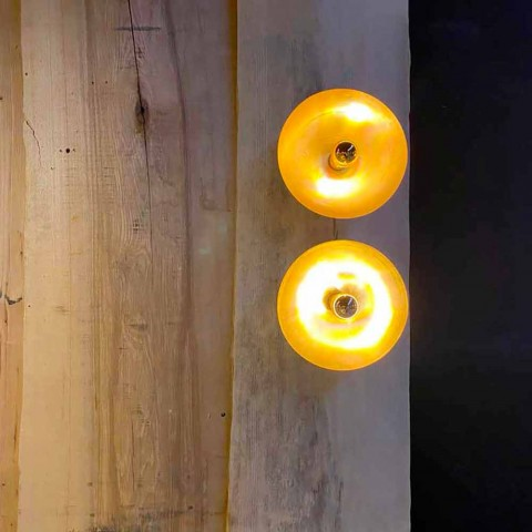 Aplica rotunda Artisan din alama naturala cu LED Made in Italy - Salina