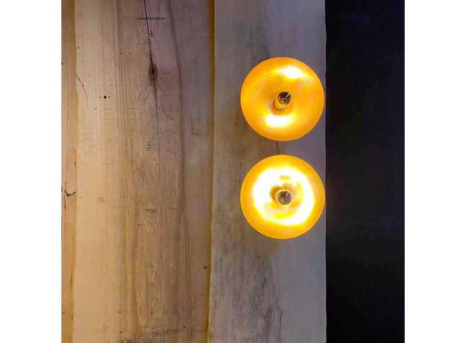 Aplica rotunda Artisan din alama naturala cu LED Made in Italy - Salina