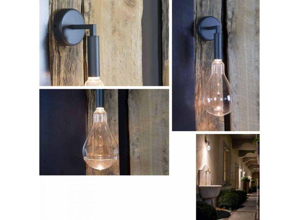 Aplica de exterior din fier și aluminiu cu LED inclus Fabricat în Italia - Luccico