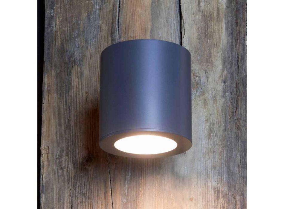 Aplica de exterior din fier și aluminiu cu LED inclus Fabricat în Italia - Rango