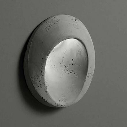 Oval lampă de perete exterior din oțel colorat Oval - Toscot
