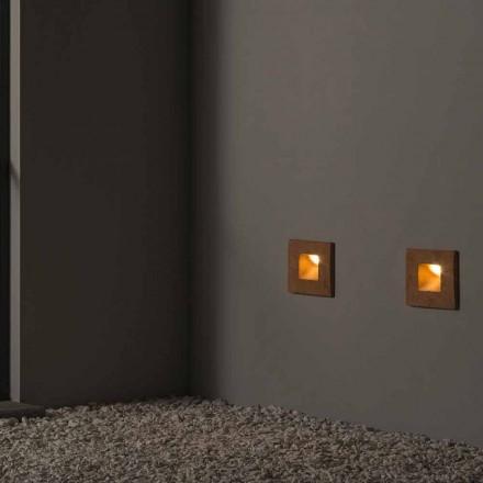 Lampă pătrată în perete în piatră colorată - Toscot