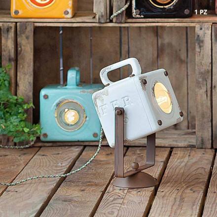 lumina de perete industriale de epocă stil ceramică și fero Julia