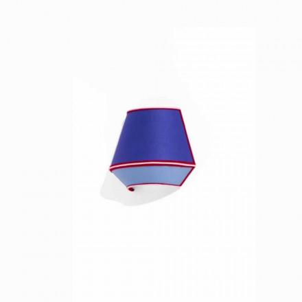 Aplica de design din bumbac albastru cu detalii roșii și albe Made in Italy - Soia