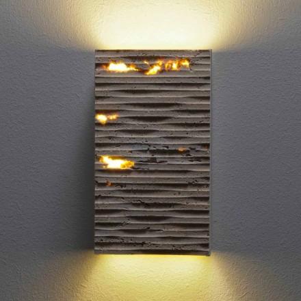 Lampă exterioară de perete din piatră Serafini Marmi Petra Out, fabricată în Italia