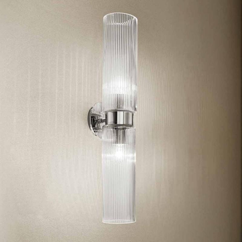 Aplica de perete din sticla venetiana cu finisaj de cristal, realizata manual in Italia - Larissa