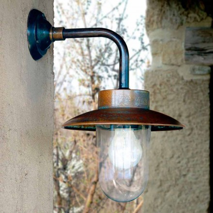 Aplice Nabucco, lampa de perete din cupru, sticla, alama