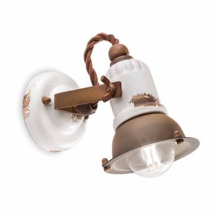 Perete ceramic reglabil și reflector metalic Kendra Ferroluce
