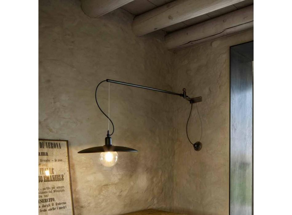 Aplica vintage din alamă cu braț mobil - Meridiana Aldo Bernardi