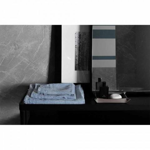 Prosop albastru deschis de lenjerie grea Design de lux italian - Jojoba