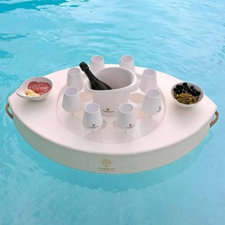 Trona bară plutitoare din piele ecologică albă din Italia