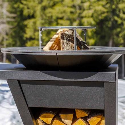 Cu platou de gătit și compartiment pentru suport de lemn - Giorgione