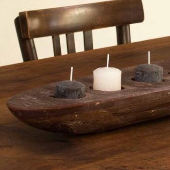 Barcă de ceară cu lumini maro sau fildeș, inclusiv Made in Italy - Ludvig