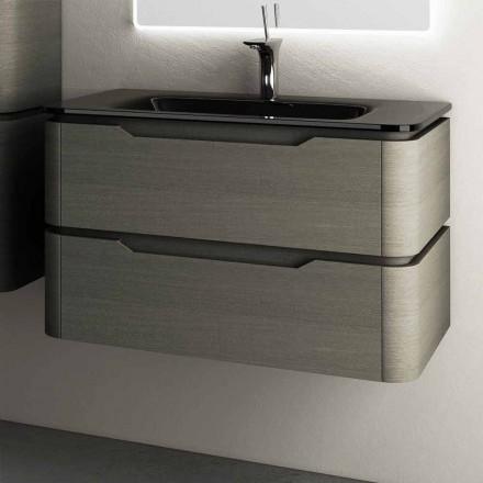 Design modern, chiuveta suspendata, 85x55x55cm lemn lustruit Arya