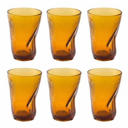 Pahare de cocktail din sticlă colorată 12 bucăți de design încărunțit - Sarabi