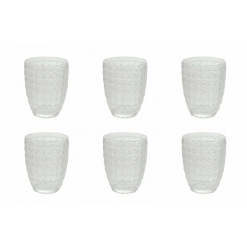 6 bucăți care servesc ochelari în sticlă transparentă pentru apă - optică