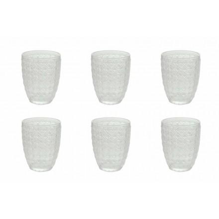 12 bucăți care servesc ochelari în sticlă transparentă pentru apă - optică