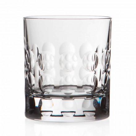 Ochelari dublu Whisky din cristal de modă veche 12 bucăți - Titanioball