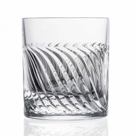 Pahare de whisky de lux Eco Crystal DOF Design 12 bucăți - Aritmie