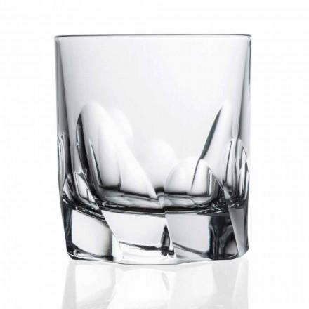 Whisky sau apă din sticlă decorată 12 piese Dof Design - titan
