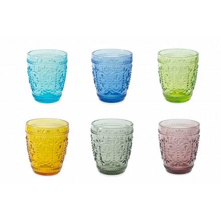 Ochelari decorați și colorați Set de apă 12 bucăți - Pastel-Palazzo