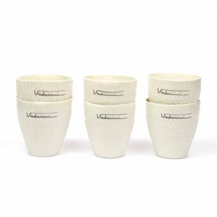 Pahare din porțelan alb de design de lux 6 piese unice - Arcireale