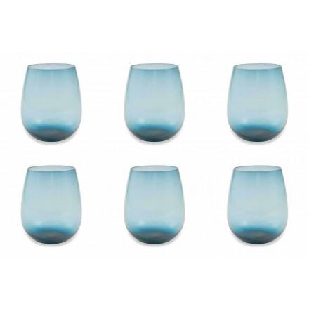 Serviciu de ochelari de apă modern și colorat din 6 bucăți - Aperi