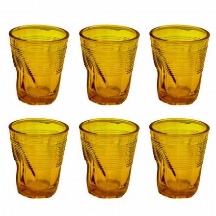 Ochelari de apă din sticlă modernă colorată 12 piese de design - Sarabi