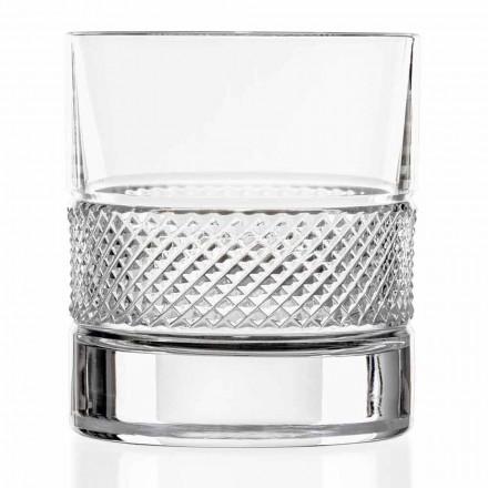 Ochelari cu pahare mici în cristal ecologic cu decor de lux 12 bucăți - Milito