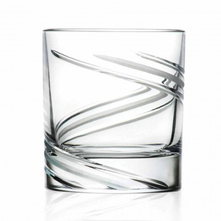 Ochelari cu pahare mici în cristal decorat manual, 12 bucăți - ciclon