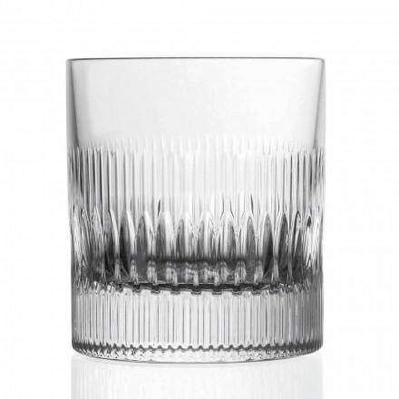 Whisky de cristal și pahare de apă 12 piese Decor stil vintage - tactil