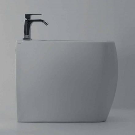 Bideu din ceramică albă cu design modern Gais, fabricat în Italia