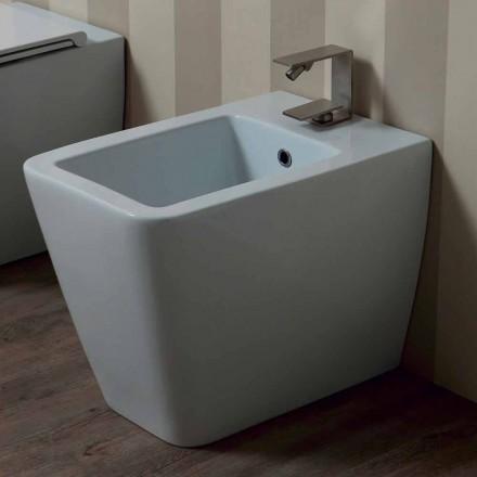 Bideu alb ceramice design modern Sun 55x35 cm Made in Italy