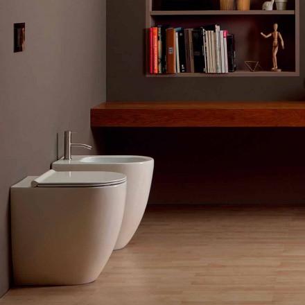 Bideu în design modern, ceramică Shine pătrat deschis fără ramă H50 cm