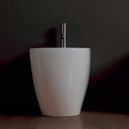 Bideu Shine ceramice moderne Piața 54x35cm fără ramă Made in Italy