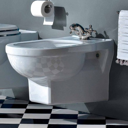 Bidet clasic cu o singură gaură în ceramică albă fabricat în Italia - Marwa