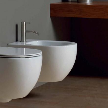 Bideu Suspensie modernă alb 50x35cm stele ceramice Made in Italy