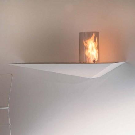Biofireplace de perete cu design modern din oțel vopsit și sticlă - Malcolm