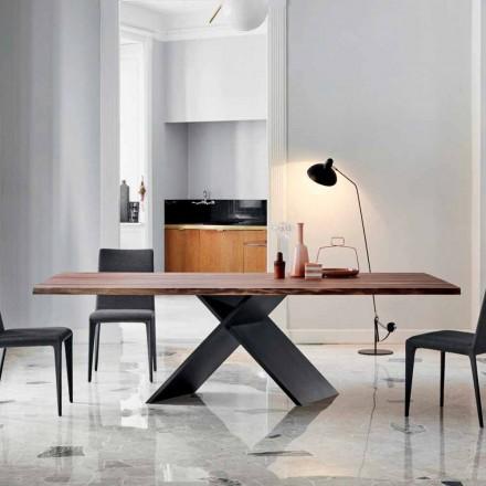 Bonaldo Axă de proiectare din lemn cu margini naturale realizate în Italia