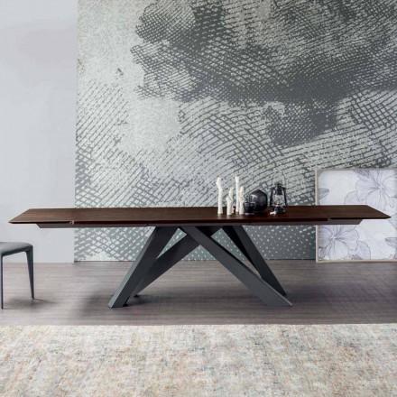 Masă extensibilă Bonaldo Big Table din lemn de design din Italia