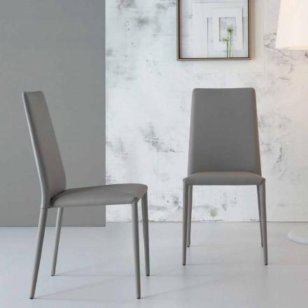 Bonaldo Eral scaun modern de design, tapițat în piele realizat în Italia