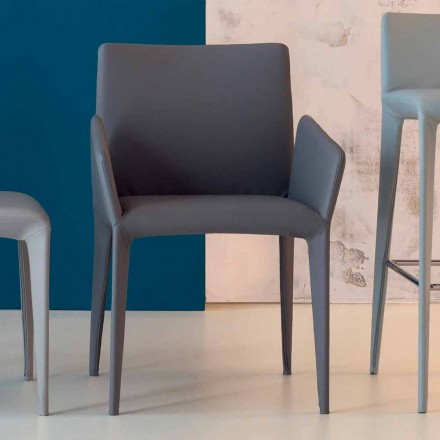 Bonaldo Scaun din piele cu suport din piele, cu scaune din piele, cu cotiere din Italia
